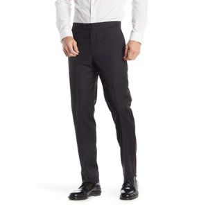 Calvin Klein Black Slim Fit Tuxedo Pants NWT